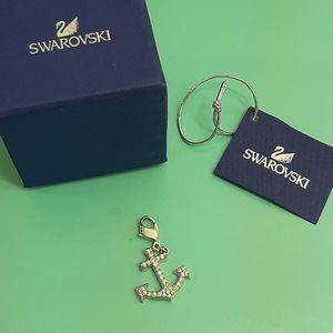 Swarovski crystal anchor charm